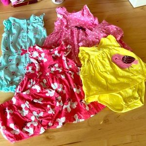 Baby Girl Dresses and Rompers, size 0-3 months